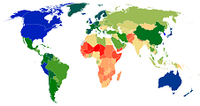 Image link to world map for mean systolic blood pressure